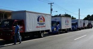 Camiones del Plan Social de la Presidencia