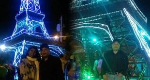 Posando ante la Torre Eiffel de SDO