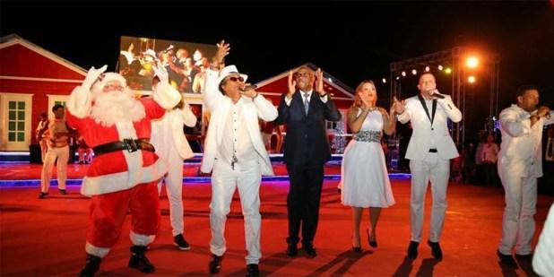 Escena de la inauguración de Vive la Navidad
