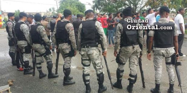 Masiva presencia militar contra las protestas en San Luis