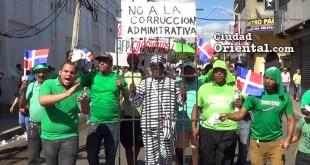 Escena de la marcha contra la impunidad y la corrupción