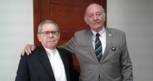 Monseñor Agriino Núñez Collado y el diputado Fidelio Despradel