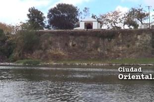 Vista de la capilla del Rosario desde el río Ozama