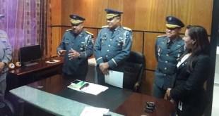 El general Suardí Correa, se dirige a los presentes luego de la juramentación.