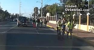 Vigilancia policial y militar sin medios de transporte