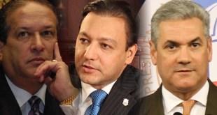 Desde la izquierda, Reinaldo Pared, Abel Martínez y Gonzalo Castillo