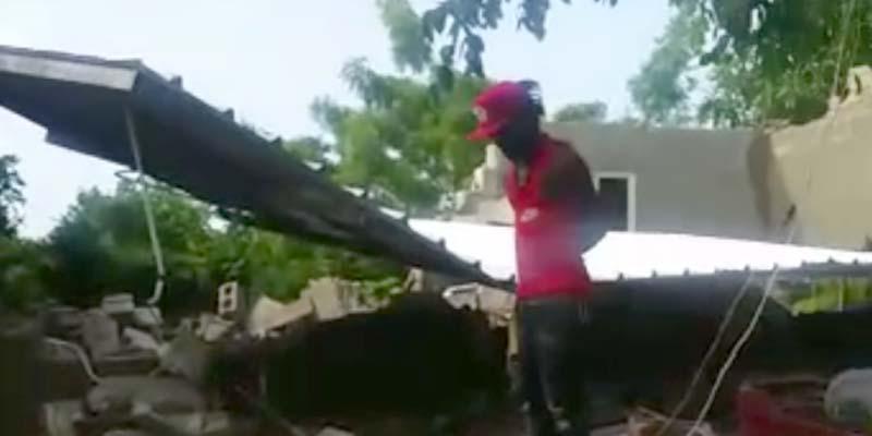 Se produce tiroteo durante desalojo masivo frente a la Ciudad Juan Bosch