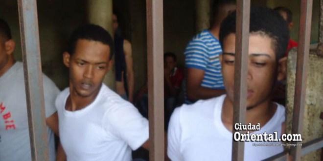 Los condenados Héctor Luis Sánchez Disla y Jhoan Joel Flores (a) Babbum, en foto de archivo de Ciudad Oriental.