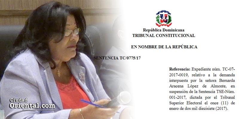 ¿Mantendrá bloque del PLD y Ana Tejeda desafío al Tribunal Constitucional?