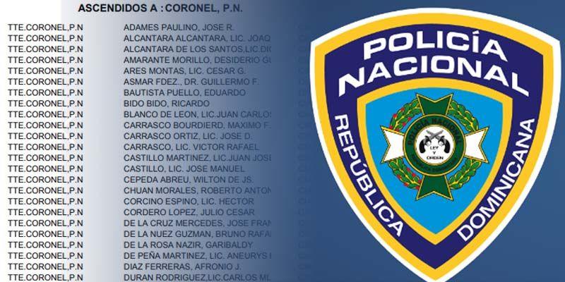 Aquí la lista completa de ascensos en la Policía Nacional de este marzo de 2019