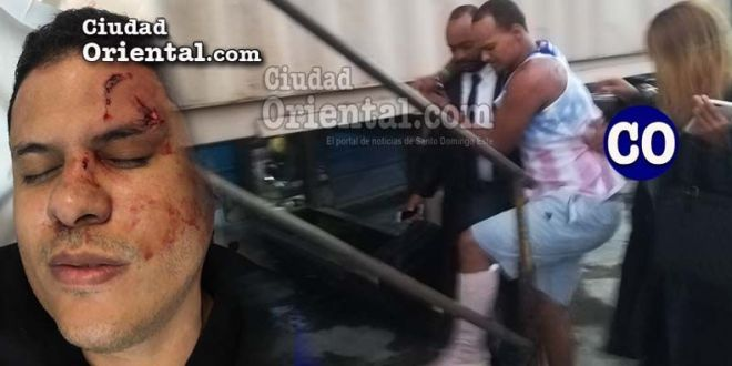 El médico herido y el imputado Esmerlin Guerrero Arias, llevado ante el juez (Infografía de CO).