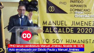 Photo of PHD lanza la candidatura de Manuel Jimènez Alcalde de SDE + Vídeo
