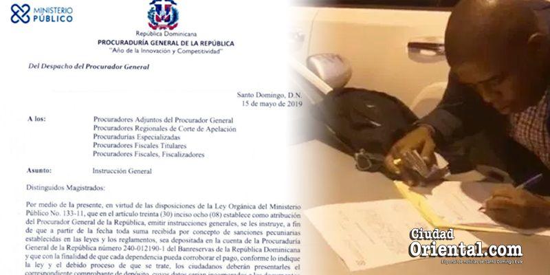 El Procurador General prohíbe a los fiscales cobrar dinero a presuntos infractores