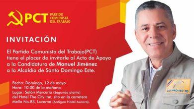 Photo of El PCT convoca acto de respaldo candidatura de Manuel Jiménez