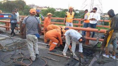 Photo of MOPC repara juntas del Puente Juan Bosch