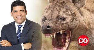 Dio Astacio y una hiena