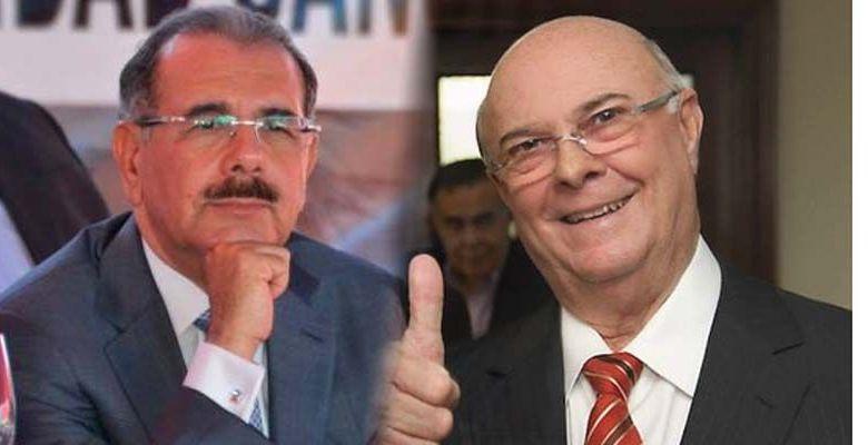 Danilo Medina (i) e Hipólito Mejía