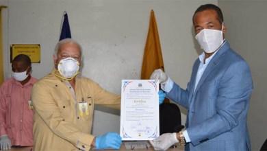 Photo of Junta Municipal Electoral de Haina entrega certificado para segundo mandato de Antonio Brito Rodríguez