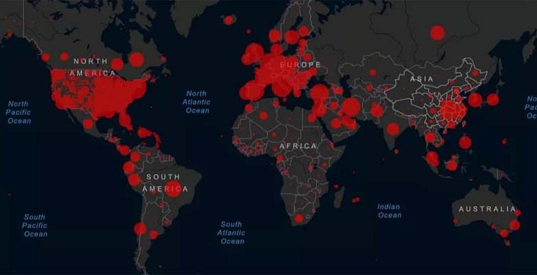Mapa mundial del impacto del coronavirus