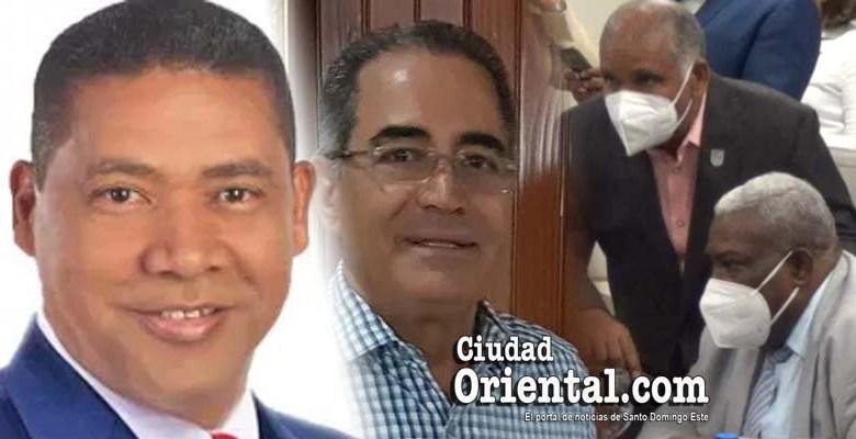 Desde la izquierda, José Liz, Julio Ernesto Cruz Pichardo, José Ramón Jiménez y José Sánchez