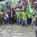 En la campaña del 2016 Manuel Jiménez prometía resolver los problemas de drenaje pluvial, ahora que es alcalde, dice que eso es un asunto de la CAASD.