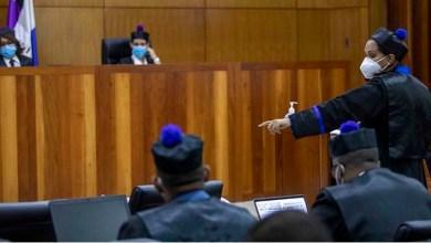 La fiscal Mirna Ortiz en el juicio de fondo.
