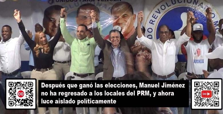 Escena de uno de los últimos actos de Manuel Jiménez en un local del PRM en el 2020