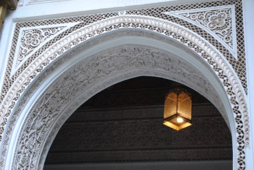 Este detalle del marco es una muestra del trabajo esmerado de los artesanos. Foto: M. Velásquez