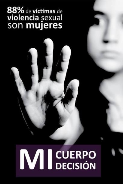 violencia sexual afiche