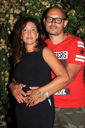 Margarita con su esposo