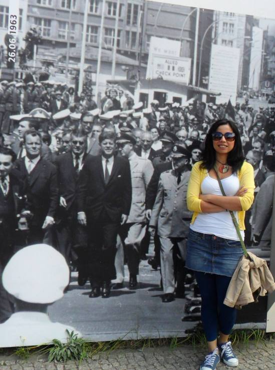 En Checkpoint Charlie, Berlín. Foto icónica de la visita del presidente John F. Kennedy