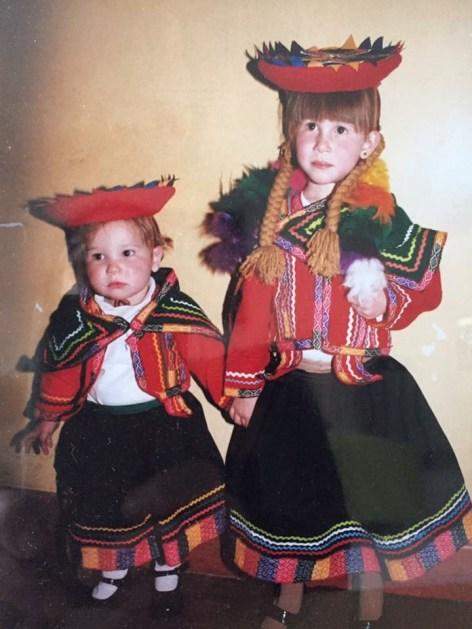 La cultura andina corre por las venas de Claudia y Helena