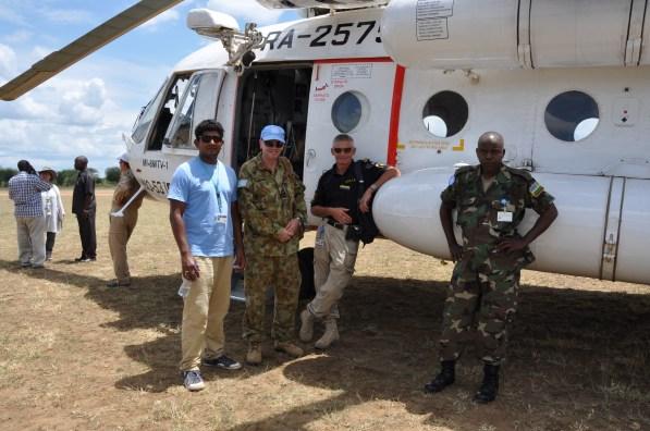 En misión, en Sudán del Sur. Foto: Cortesía