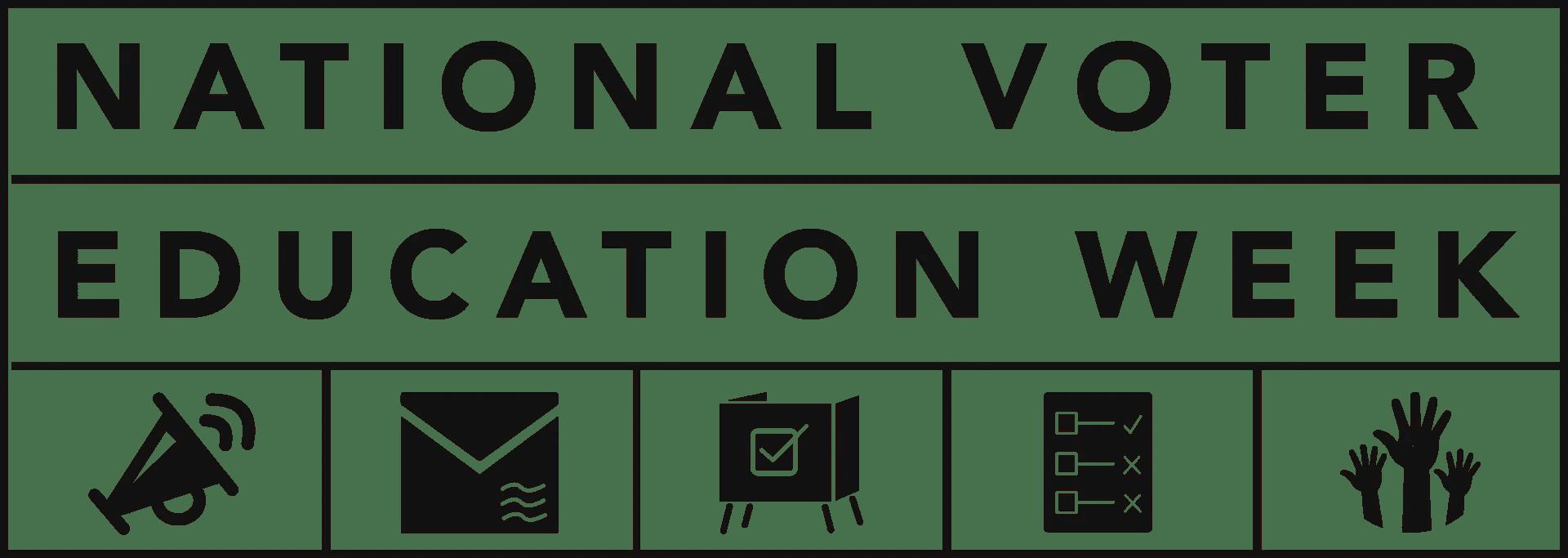 National Voter Education Week Logo