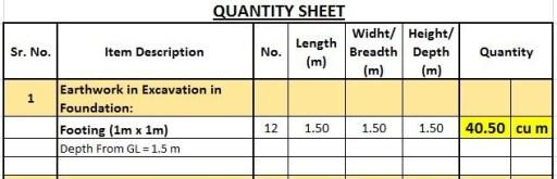 Building Estimation With Plan