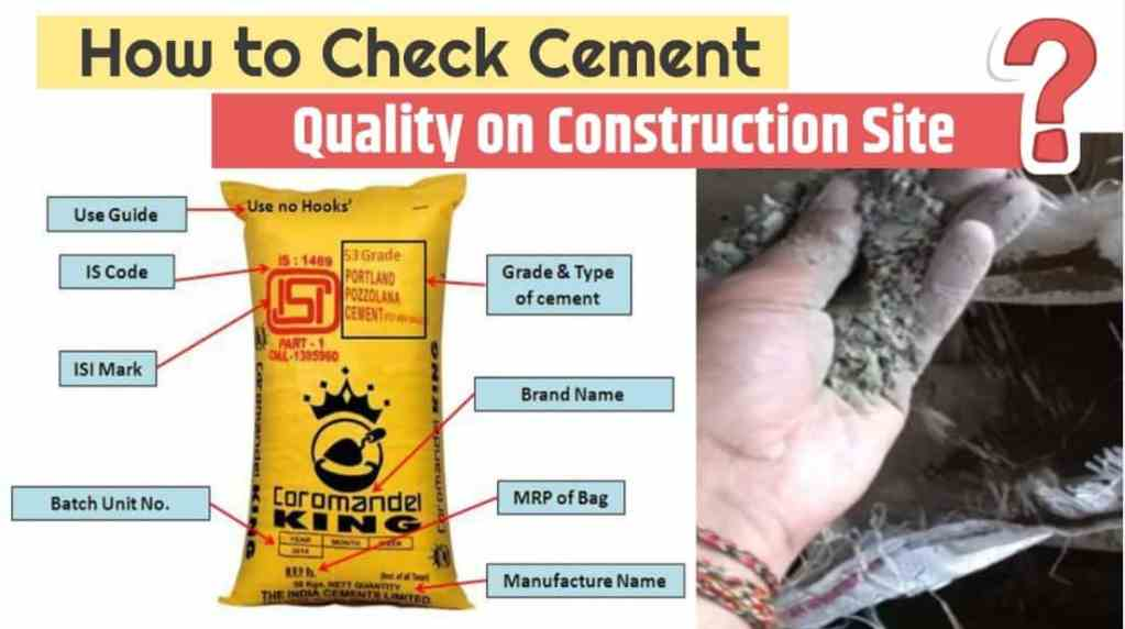 cement quality check