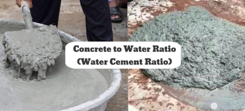 concrete to water ratio