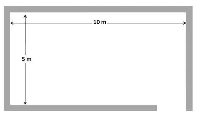 10 x10 m Floor Tiles Calculation