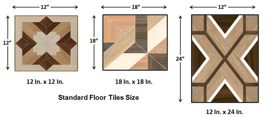 Standard Floor Tiles Size -  How to Calculate Tiles Needed for a Floor