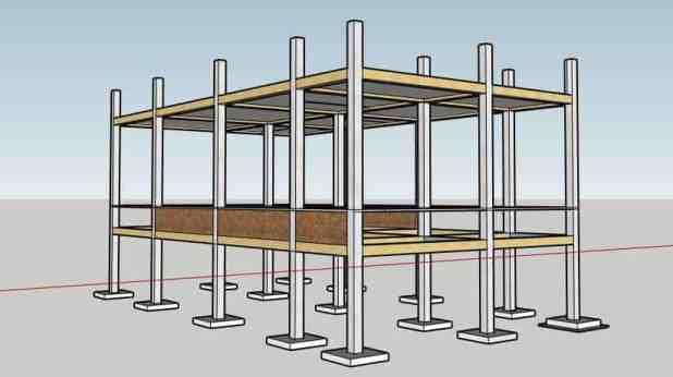 लोड बेअरिंग संरचना और फ्रेम संरचना (Load Bearing Structure and Frame Structure) के बीच अंतर