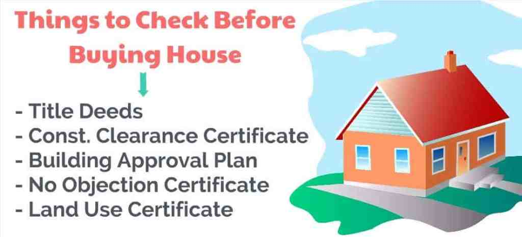 hing to check before buying house