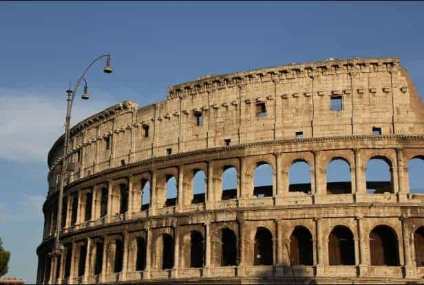 Colosseum in Rome, Italy -  Made fron Rubble Masonry