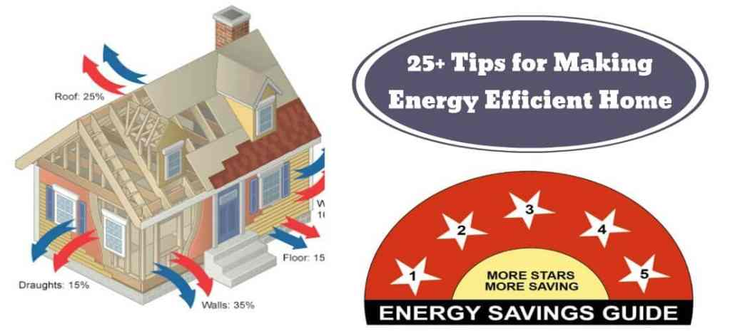 25 Tips for Energy Efficient House