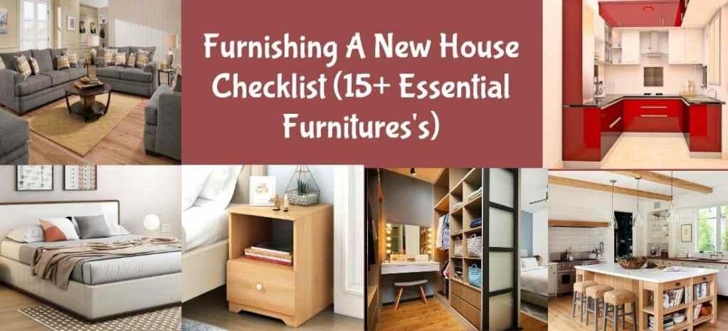 Furnishing A New Home Checklist
