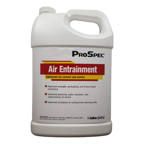 Air-Entraining Admixtures or agent
