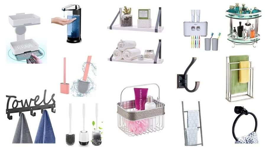 41 Types of Bathroom Accessories & Their Purpose