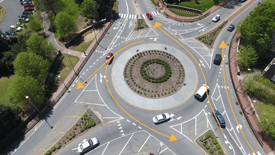 Roundabout Pavement Markings