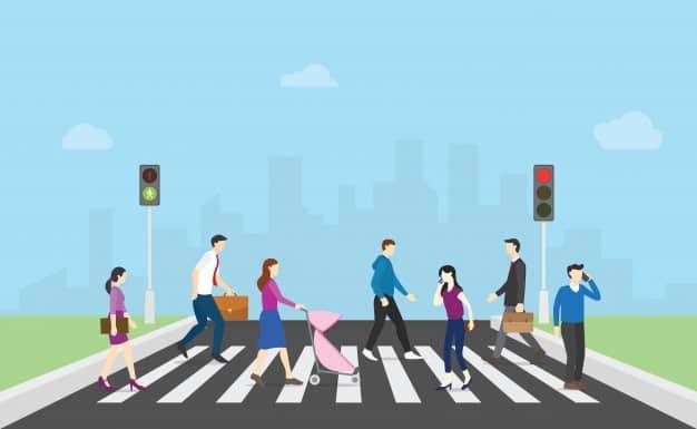 Pedestrian Crosswalk Pavement Markings