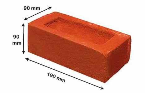 Standard Size of Bricks