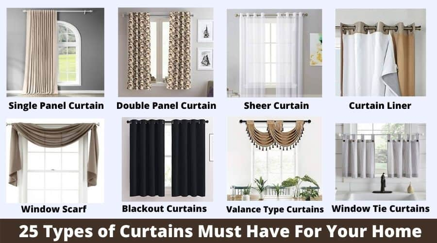 Curtain Types and styles